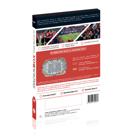 coffret cadeau match foot stade rennais stadiumbox football. Black Bedroom Furniture Sets. Home Design Ideas