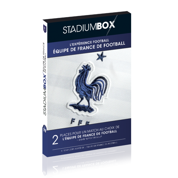 box cadeau match foot equipe de france bleus stadiumbox football. Black Bedroom Furniture Sets. Home Design Ideas
