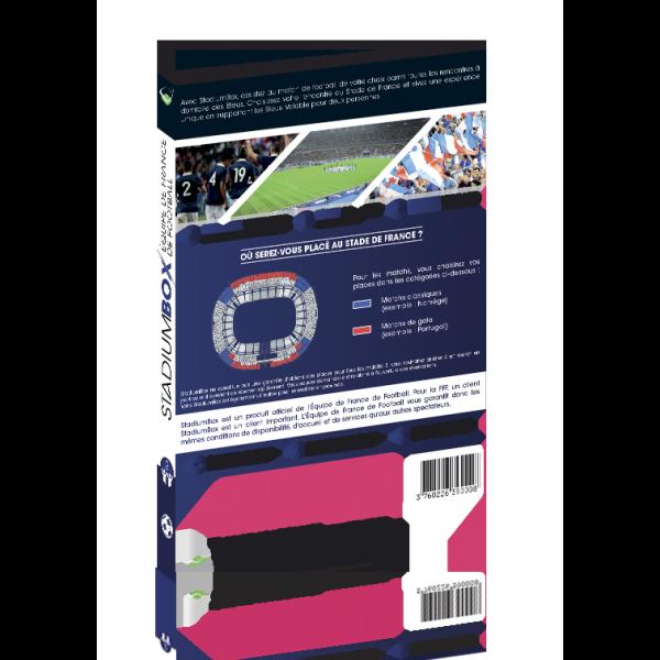 box cadeau match foot equipe de france bleus stadiumbox football. Black Bedroom Furniture Sets. Home Design Ideas